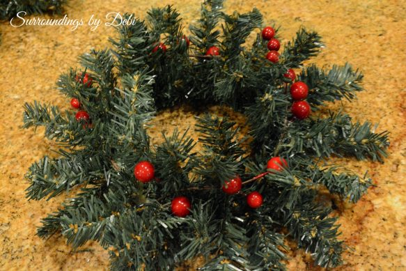 Berries added to Small Wreaths