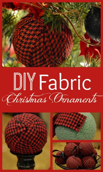 Fabric Christmas Ornaments Collage
