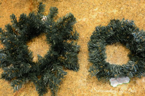 Fluffing Small Wreaths