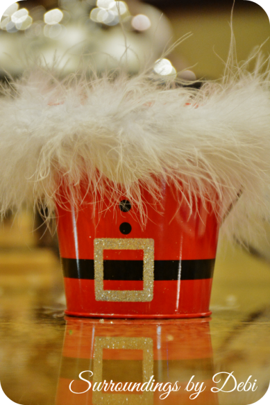 Santa Bucket with Marabou Added