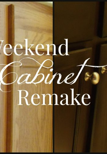 Weekend Cabinet Remake – Updating Generic Builder Cabinets