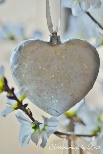 Hanging Vintage Heart Ornaments
