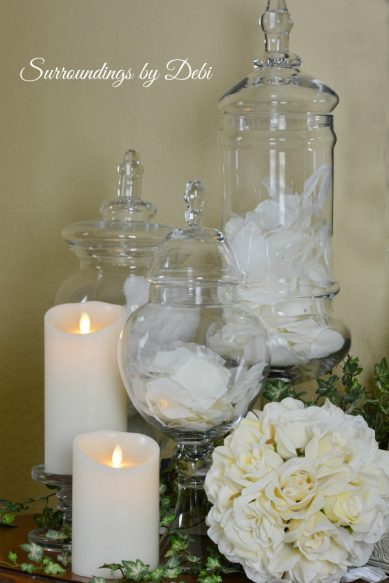 Rose Apothecary Jars
