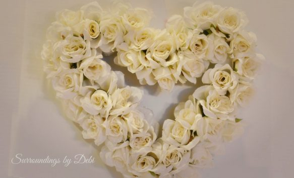 White Rose Wreath Desire