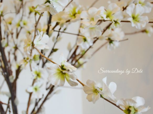 Faux Cherry Branch Blossoms