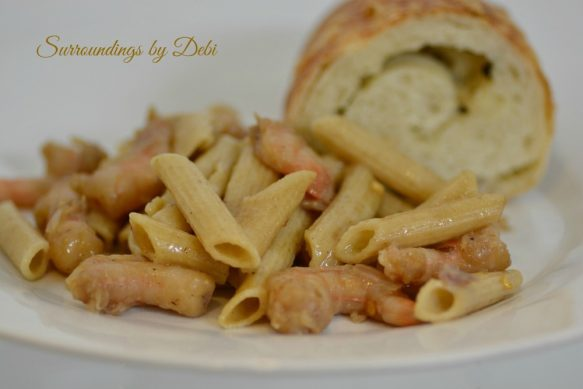 Finished Easy Peasy Shrimp Pasta