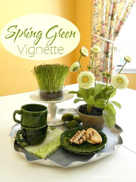 Quick-and-Easy-Spring-Green-Vignette-on-a-Tray-AnExtraordinaryDay.net_