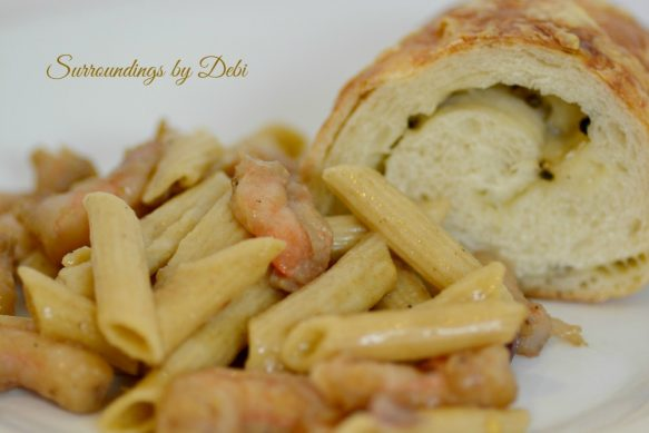 Easy Peasy Shrimp Pasta Palte