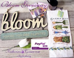 April bloom- giveaway- button