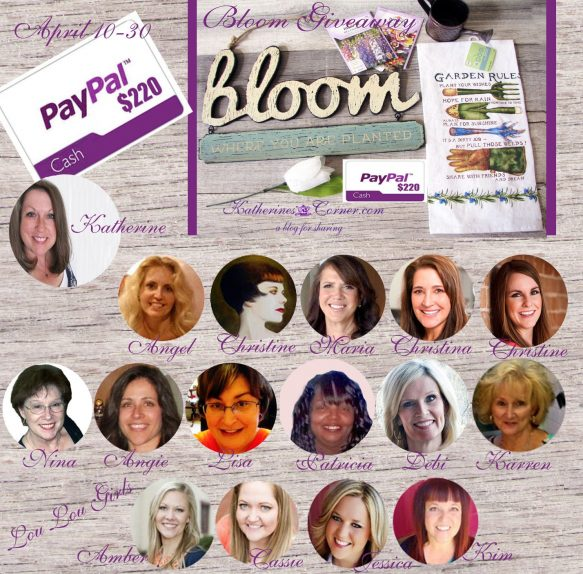 April bloom giveaway sponsors