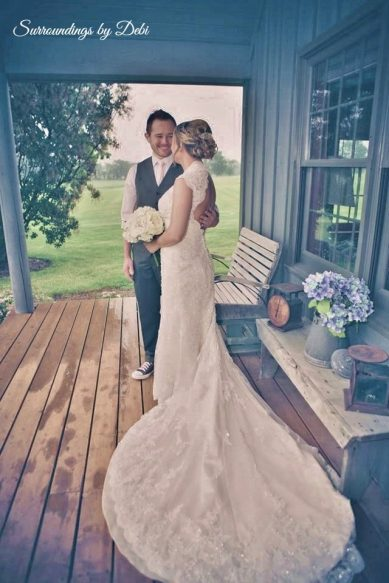 Bridal Couple - Rustic Wedding in a Barn