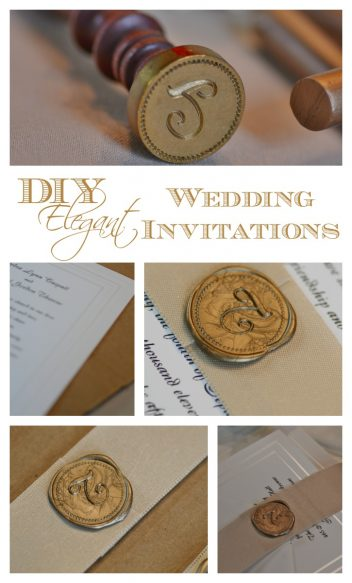 DIY Elegant Wedding Invitations by Surroundings by Debi