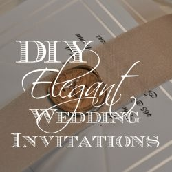 Creating DIY Elegant Wedding Invitations
