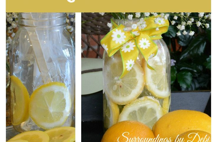 Making a Lemon Vase – A Simple Summer Arrangement