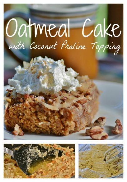 Oatmeal Cake with Coconut Praline Topping - Surroundings by Debi