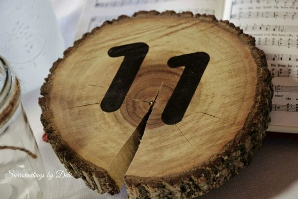 Rustic Tabel Numbers