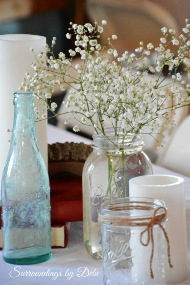 Rustic Wedding Baby's Breath Vase