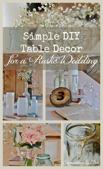 Rustic Wedding Table Decor Pinterest Collage