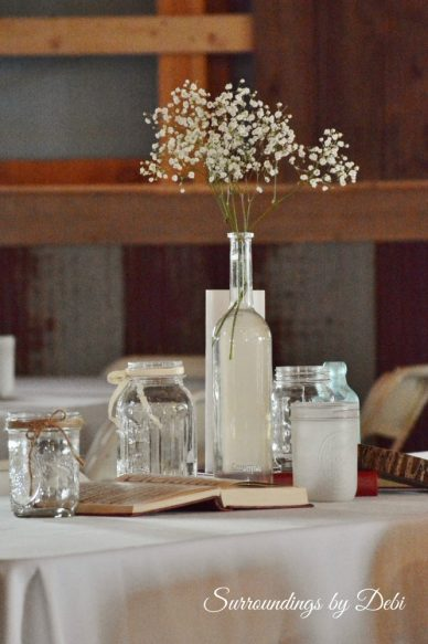 Simple Rustic Wedding Table Decor