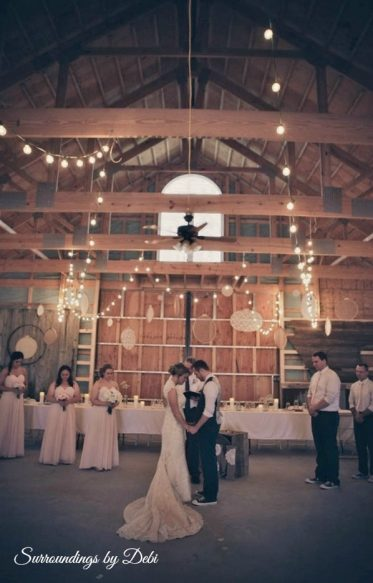Strings of Lights - Rustic Wedding in a Barn