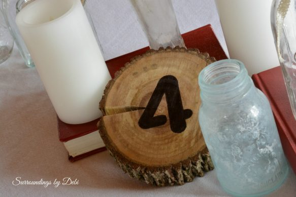 Table Numbers for a Rustic Wedding