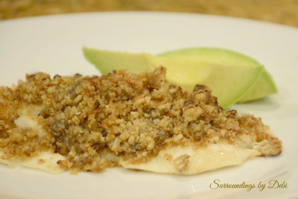 Talapia with Macadamia topping