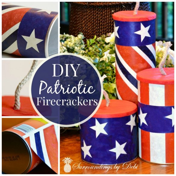 DIY Patriotic Firecrackers - Surroundings by Debi