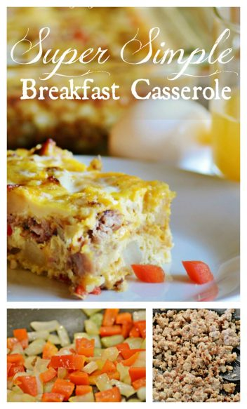 Delicious and Super Simple Breakfsat Casserole Surroundings by Debi