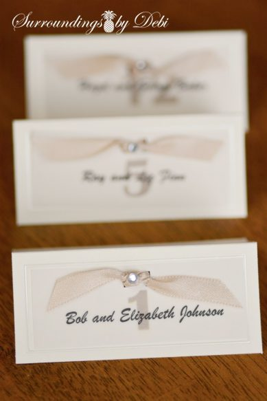 Escort Card - Surroundings by Debi