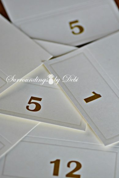 Escort Cards with Numbers