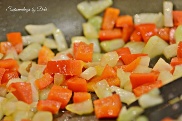 Onions and Peppers for breakfast casserole