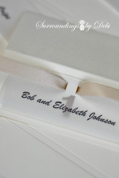 Ribbon on Escort Card