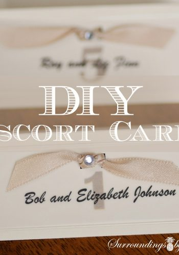 DIY Escort Cards an Elegant Look for a Wedding