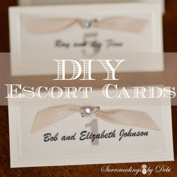 Surroundings by Debi - DIY Escort Cards