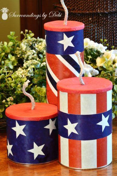 Trio of DIY Patriotic Firecrackers