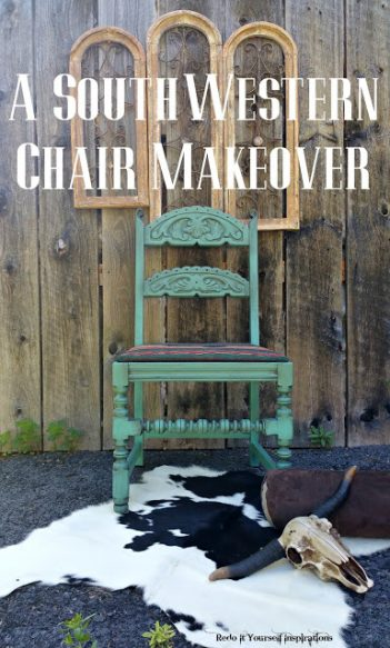 southwestern chair makeover by redoit