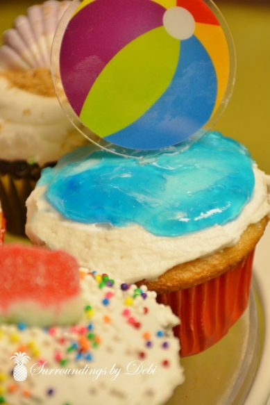 Beach Party Cupcakes - Beach Ball