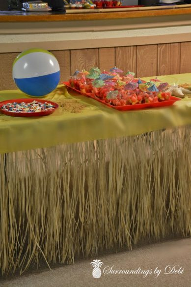 Beach Party Serving Table