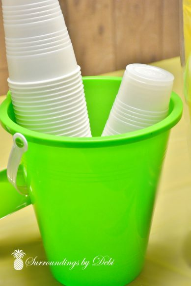 Beach party Cup Bucket