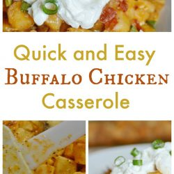 Quick and Easy Buffalo Chicken Casserole
