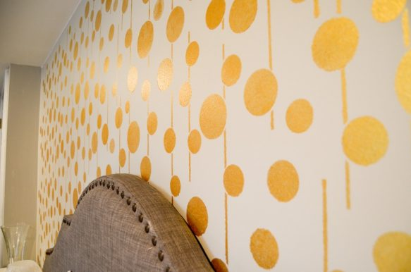 Golden Stenciled walls