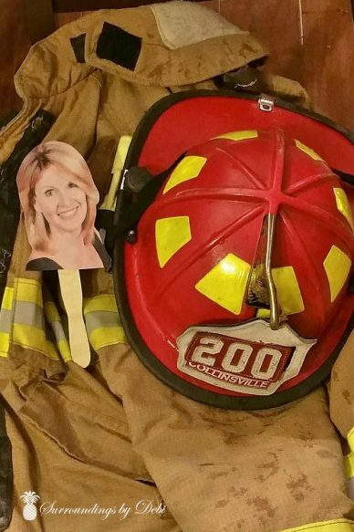 Flat Debi Helping the Fireman