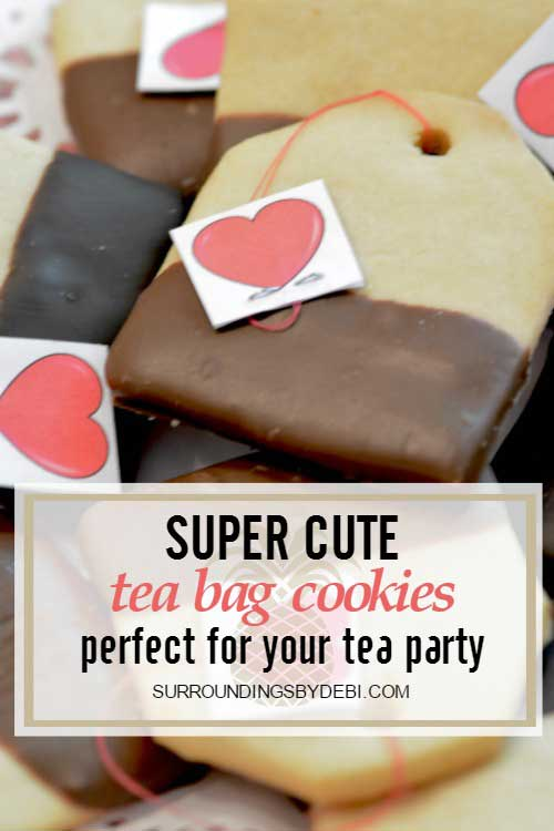 Super Cute Tea Bag Cookies - Surroundings by Debi