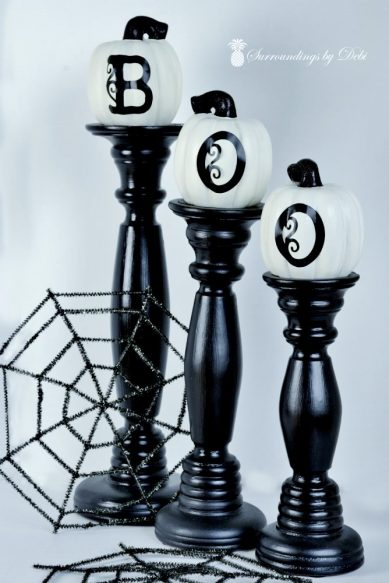 BOO Candlestick Accents - Surroundings by Debi