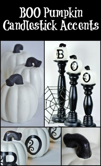 BOO Pumpkin Candlestick Accents - Surroundings by Debi