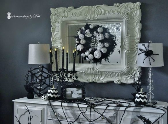 Creating a Halloween Vignette Buffet with Surroundings by Debi