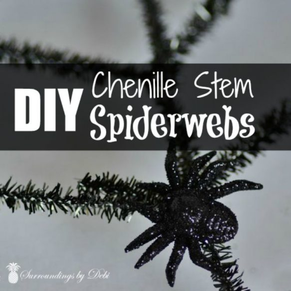 DIY Chenille Stem Spiderweb