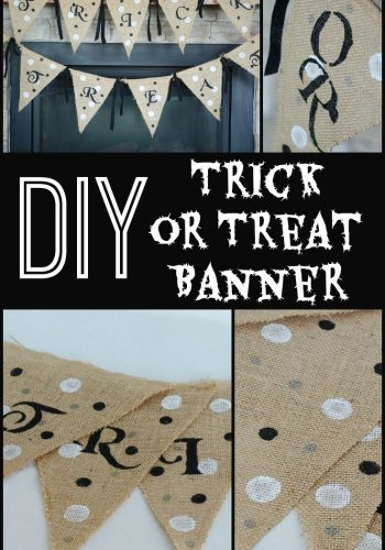 DIY Trick or Treat Banner in Black and White