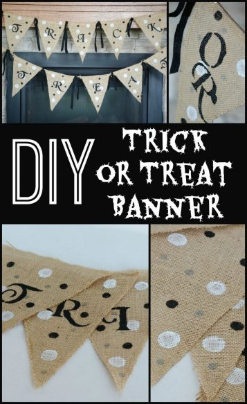 DIY Trick or Treat Banner
