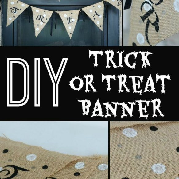 DIY Trick or Treat Banner - Surroundings by Debi